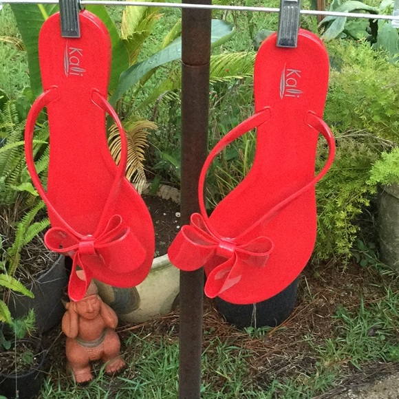 513dbb7849cb23 Kalli Shoes - 💃Kalli Rubber Fed Hot Sz 10 Sandals Summer Must